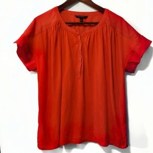 Banana Republic Size Large Red Short Sleeve Top